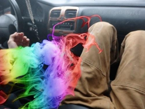 Rainbow smoke | Smoking Rainbow | Pinterest