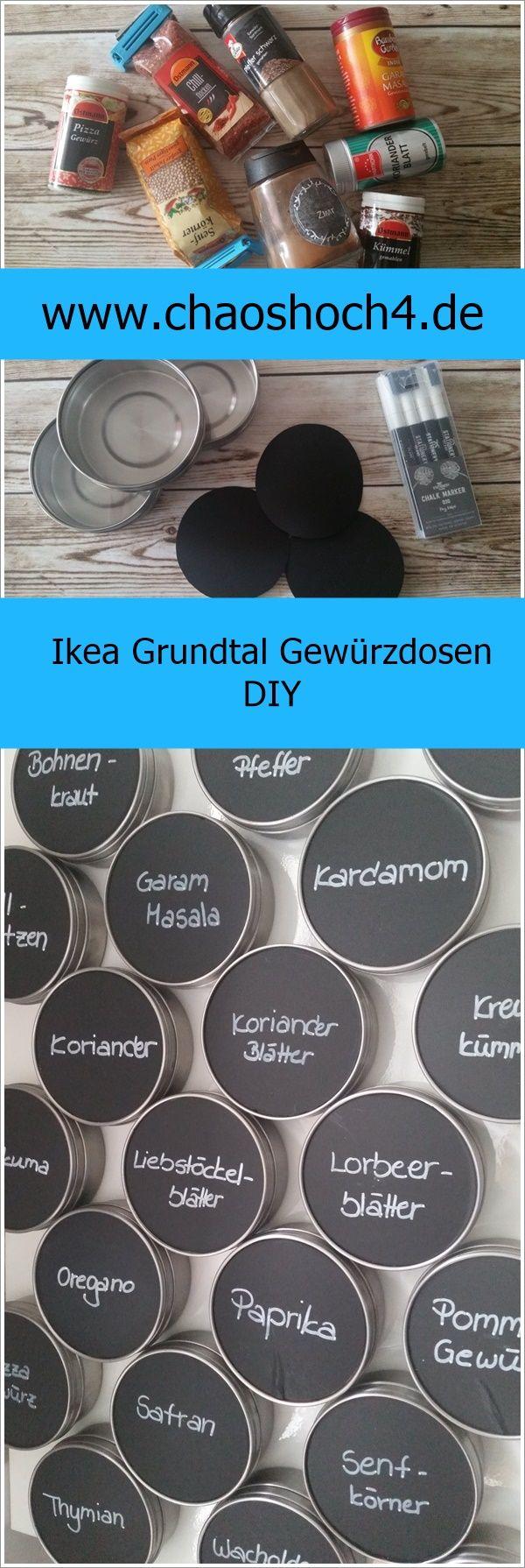 Ein Basteltipp / DIY Für Kleine Küchen Mit Ikea Grundtaldosen. Schluss Mit  Dem Gewürzdosen Chaos
