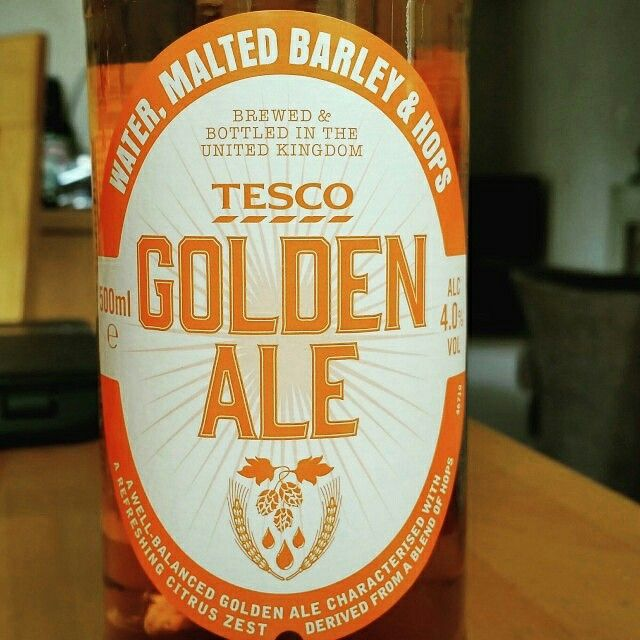 Golden Ale by Tesco Stores Ltd. #untappd