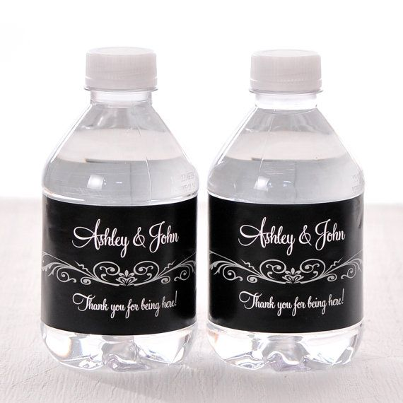 """30 Wedding Water Bottle Labels - Need a different quantity? Click on the """"choose total"""" tab to see all pricing"""