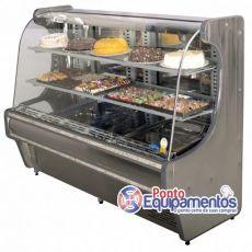 Balcão Confeitaria Refrigerado Inox 1,20 mts Spazio - Klima R$ 3.900,00