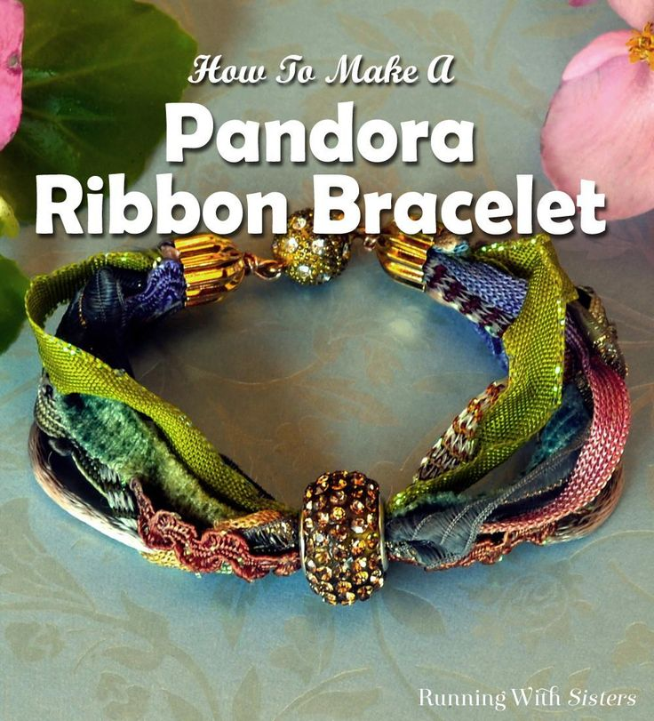 DIY Pandora Ribbon Bracelet - Learn to make an elegant Pandora ribbon bracelet using scraps of ribbons and trims and a rhinestone Pandora bead. Step by step how to includes lots of step photos and a complete video jewelry tutorial. Super easy jewelry project that's boho chic!