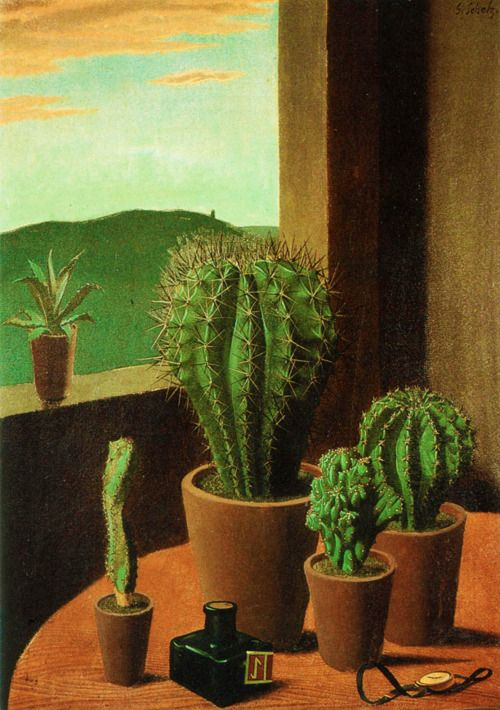 Nature Morte Aux Cactus Georg Scholz 1925 Nature