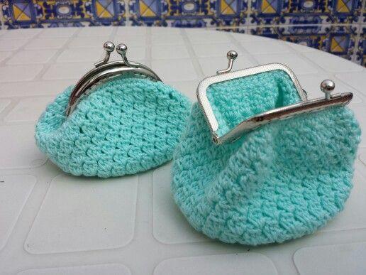 Monederos de crochet (aún sin su forrito)*ovillotejedor*