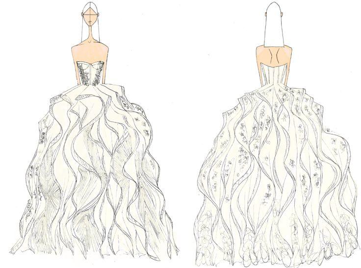 Wedding Dress Sketch Gift: 25 Best Skizzen Von Brautkleidern Images On Pinterest