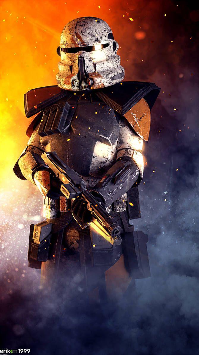 2nd Airborne Arc Trooper By Erik M1999 Star Wars Poster Star Wars Pictures Star Wars Images
