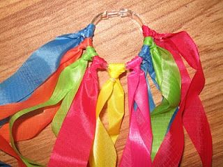 rainbow rings to dance with- great for kids with autism too- nice sensory