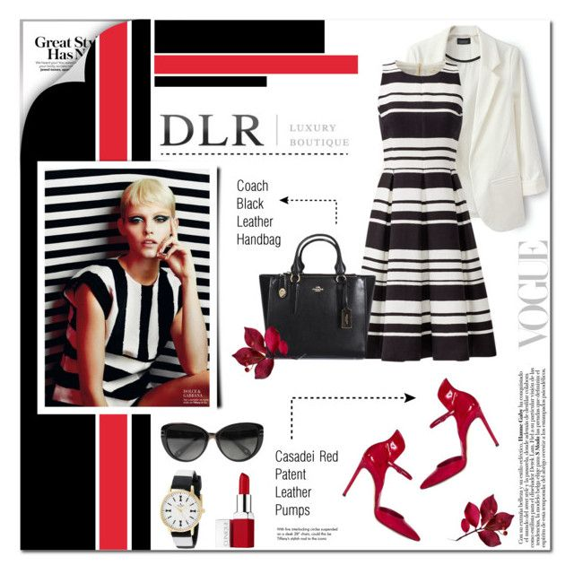 """""""DLR"""" by anyasdesigns ❤ liked on Polyvore featuring moda, Kate Spade, Coach, Casadei, Givenchy, Clinique, Tiffany & Co. y dlr"""