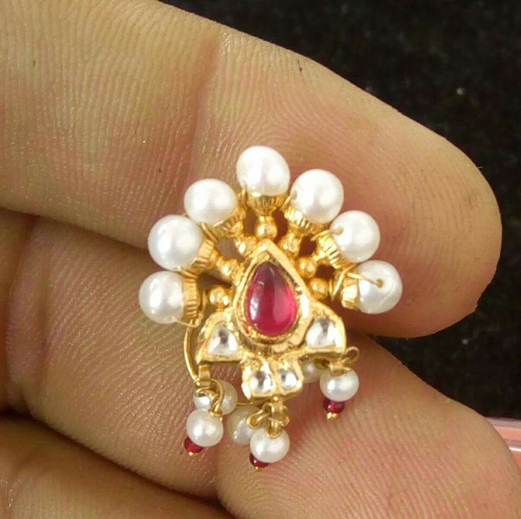 Rajputi jewellery beautiful nose ring( besar ) by Kuldeep Singh