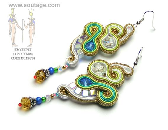 Hathor earrings - Sutasz-Anka http://www.soutage.com/2013/05/hathor-kolczyki.html