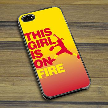 Softball iPhone/Galaxy Case This Girl Is On Fire Pitcher