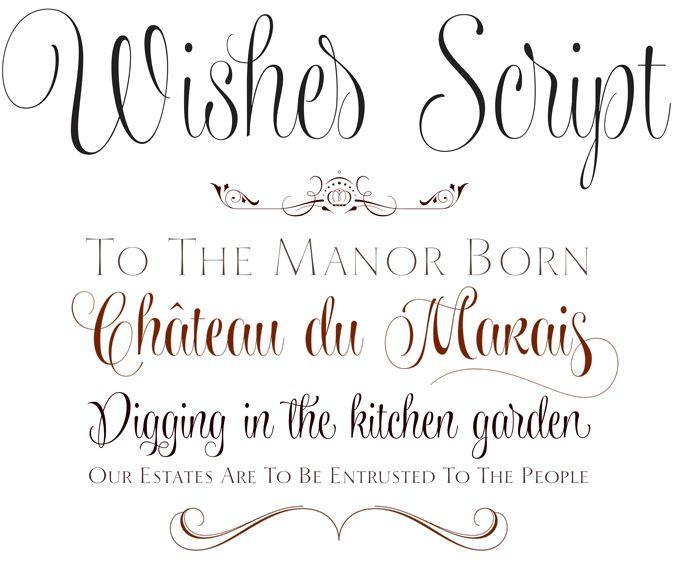 Wishes Script Font Sample Type Specimens Pinterest