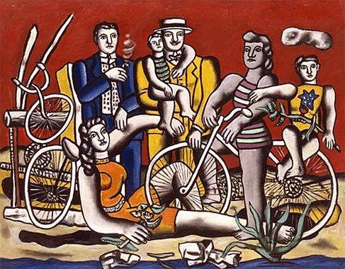 Les loisirs sur fond rouge, 1949, Fernand Léger. Musée Fernand Léger. Boit. France.