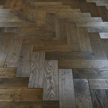 Rustic Dark Parquet Stained And Woca Oiled Solid Wood Flooring - 1