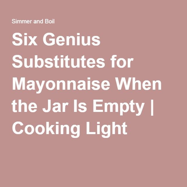 Six Genius Substitutes for Mayonnaise PLUS recipe for mayo with grapeseed oil
