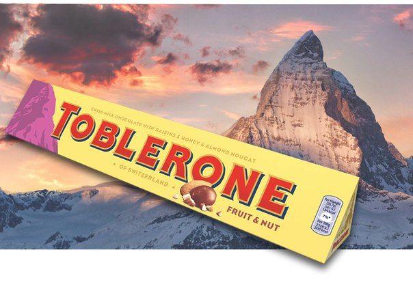Toblerone (Таблерон, 100г) молочный с нугой и изюмом. В наличии 4 вкуса. Цена на сайте ChocoShop.com.ua