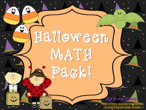This 15 page Halloween math pack has a bunch of ghoulishly fun activities aimed at helping your little ones in math! There are addition and subtraction games, counting/representing number activities, graphing organizers, and 2 time worksheets.