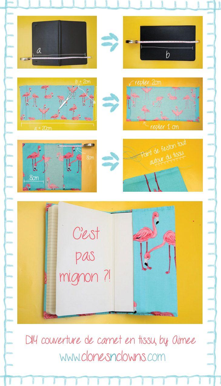 Comment créer une couverture de carnet en tissuClones N Clowns by Aimee Wood