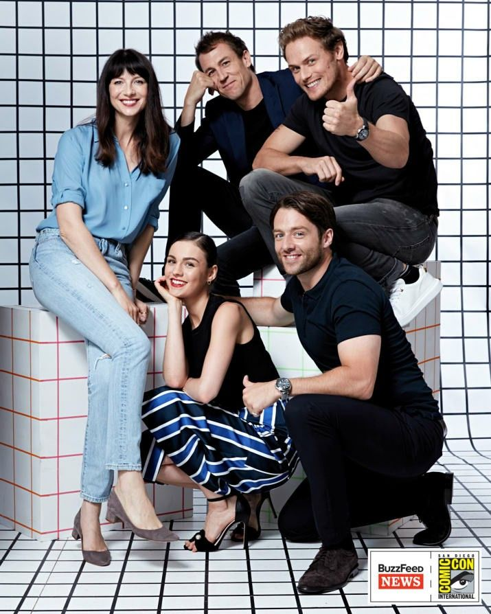 Outlander cast: Sophie Skelton, Richard Rankin, Caitriona Balfe, Tobias Menzies, and Sam Heughan - San Diego Comic Con festival - Outlander_Starz Season 3 Voyager - July 21st, 2017