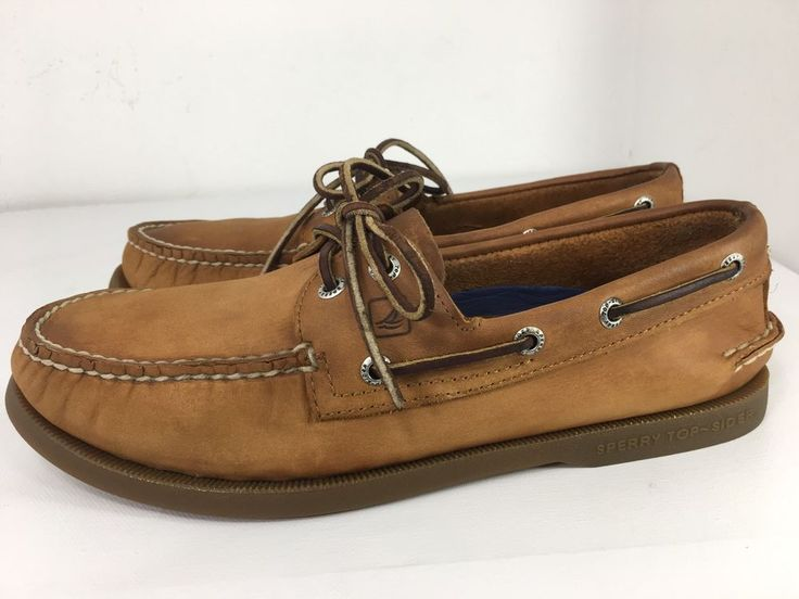Sperry Top Sider Mens Brown Leather Boat Shoes 0197640 size 8 M     eBay