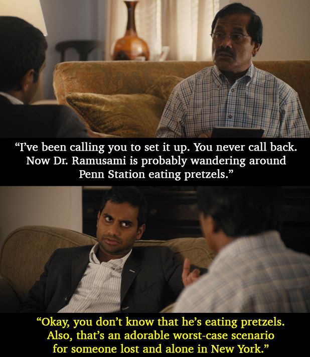 "And when he talks about forgetting to pick up a friend because he didn't put his calendar on his new iPad. | Aziz Ansari's Parents Are Simply Amazing In ""Master Of None"""