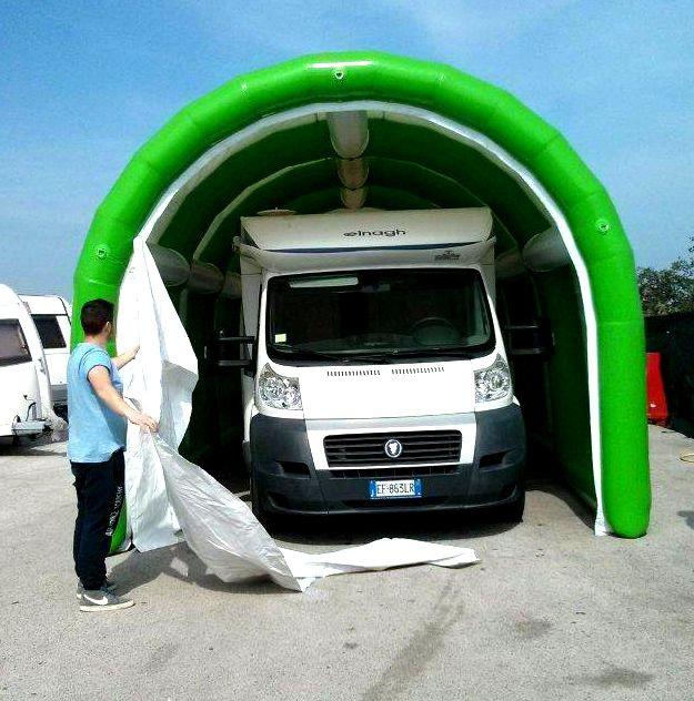 garage camper motorhome RV