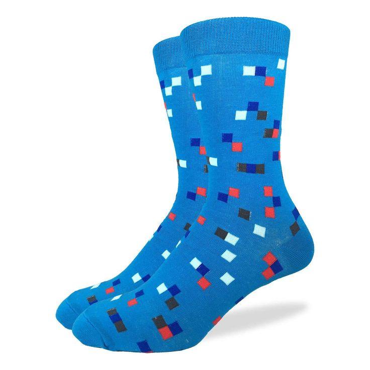 Men\u0027s Aqua Check Socks