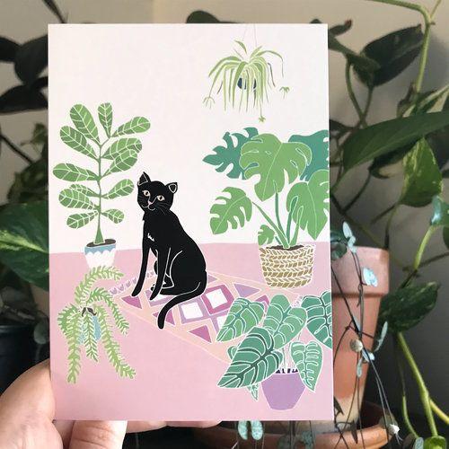 jungle kitty greeting card
