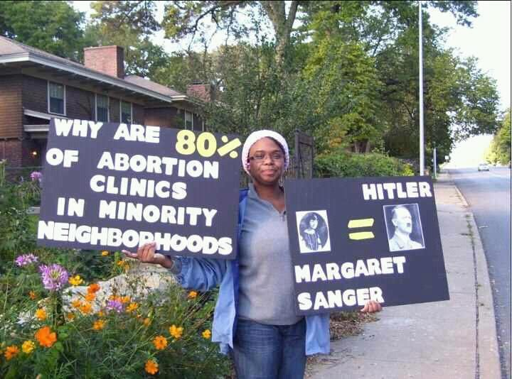 "Eugenicists like Margaret Sanger focus on putting clinics in minority neighborhoods to reduce the people they consider to be ""undesirable."""