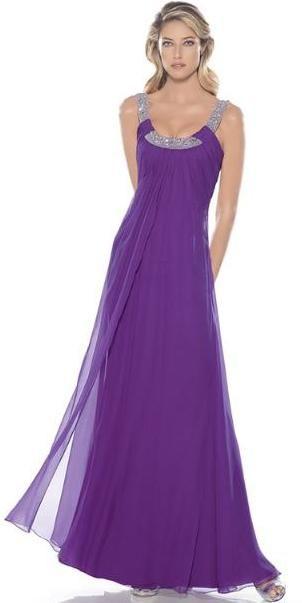 ... una muestra de vestidos de fiesta en modelos largos para la noche