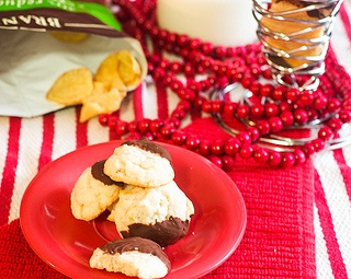 Chocolate Dipped Potato Chip Shortbread Cookies
