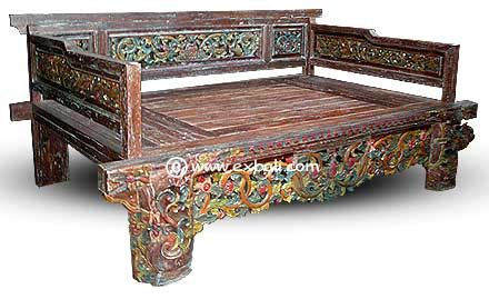 teak daybed  carved painted made from recycled teak Ahhh yes shall own one of these one day