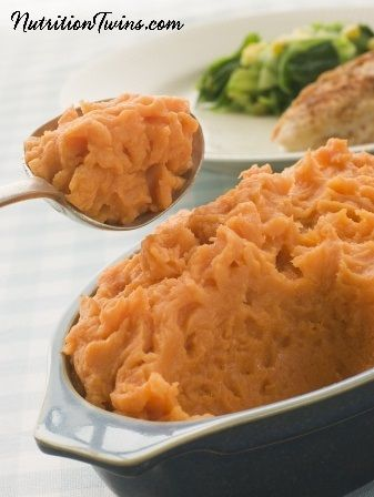 Sweet Potato & Carrot Mash | Only 107 Calories! | Creamy, Sweet Comfort Food! | For MORE RECIPES, fitness & nutrition tips please SIGN UP for our FREE NEWSLETTER www.NutritionTwins.com