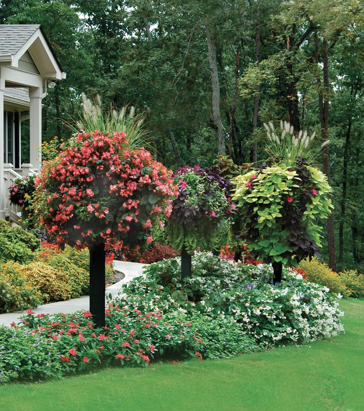 Border Columns, Basket Planters, Flower Baskets » Side Planting
