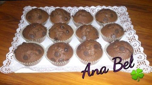 Magdalenas de chocolate para #Mycook http://www.mycook.es/receta/magdalenas-de-chocolate-2/