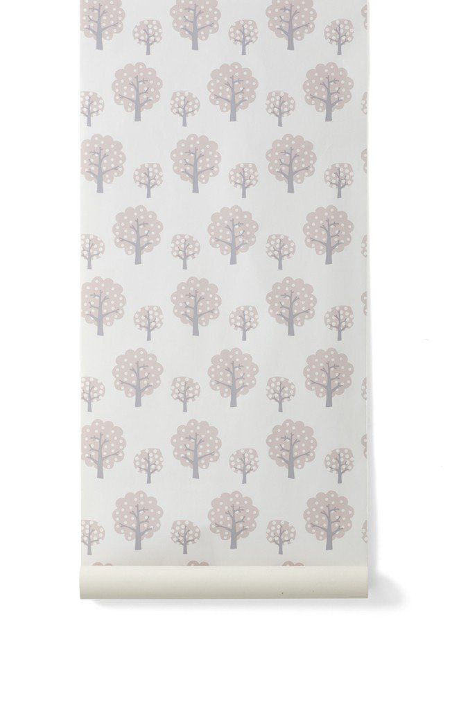 Dotty Kid's Wallpaper in Rose design by Ferm Living