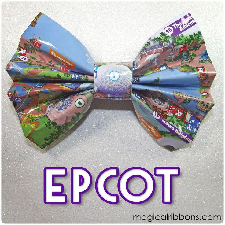 Add Extra Magic with Disney Theme Park Map Hair Bows