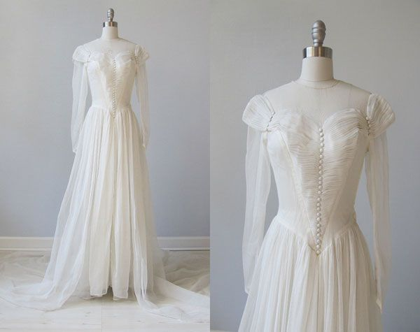 1940s wedding gowns  | 1940s Style Wedding Dresses 1940's Wedding Dresses