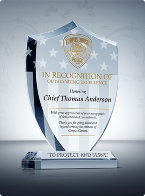 Unique Police Recognition Plaques And Sample Wordings