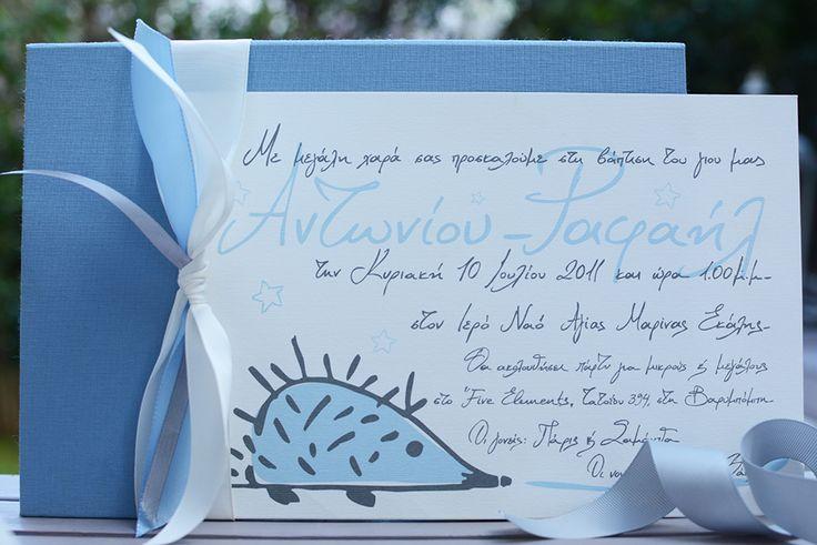 Handwritten Invitations for your Boy Christening - Chirography