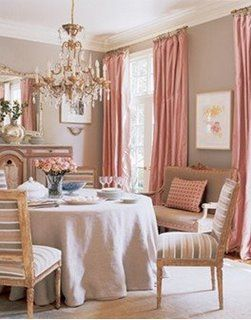 Pale Pink Dining Room By Suzanne Kasler Via Verdigris Vie Find This Pin And More On Feng Shui Decorating