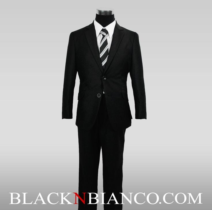 Black N Bianco - Boys Slim Fit Suit in Black Dresswear Set, $52.99 (http://www.blacknbianco.com/boys-slim-fit-suit-in-black-dresswear-set/)