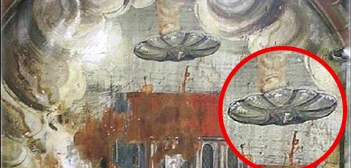 Ufó ábrázolás egy festményen, Drakula szülőhelyén?