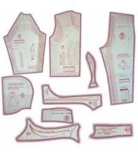 25 - Kit de Moldes Para Costura De Agasalhos de Moletom Unissex (Manga Curta, Longa, Raglan, Comum e Capuz)