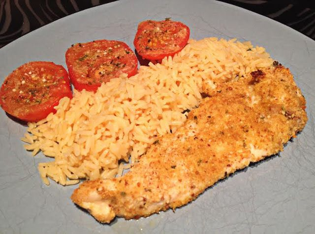 Chicken Parmesan with Herbed Tomatoes