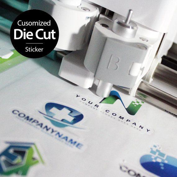 50pcs Customized Die Cut Sticker, Waterproof logo sticker, Gloss logo label, Clear logo label, Customized Design