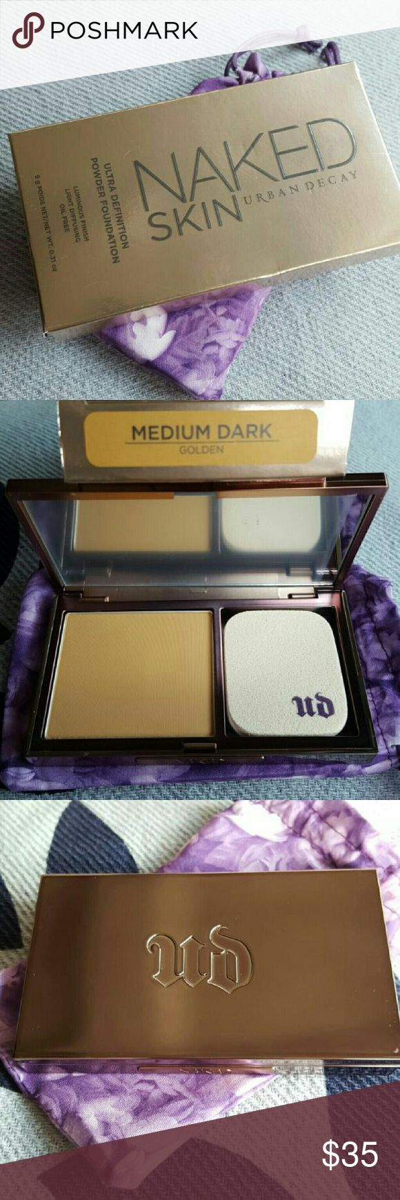 Urban Decay-Ultra definition Powder Foundation NIB Brand New Urban Decay Naked Skin  (Ultra Definition Powder Foundation) *Medium Dark/Golden *NIB / Retails  $36+ (Posh fees suck!) *Price is Firm Thank you and Happy Shopping!! (Cheaper on Merc js) Urban Decay Makeup Foundation