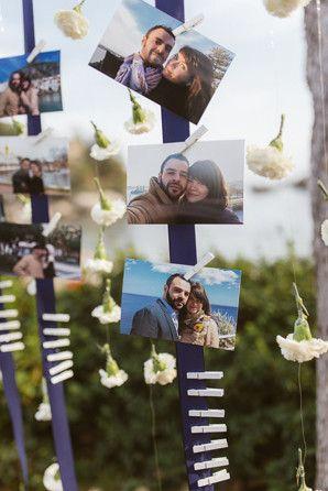 ribbons, carnations and photos http://weddingwonderland.it/2015/04/matrimonio-nautico-taormina.html