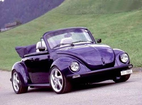 Purple Volkswagen Beetle Convertible