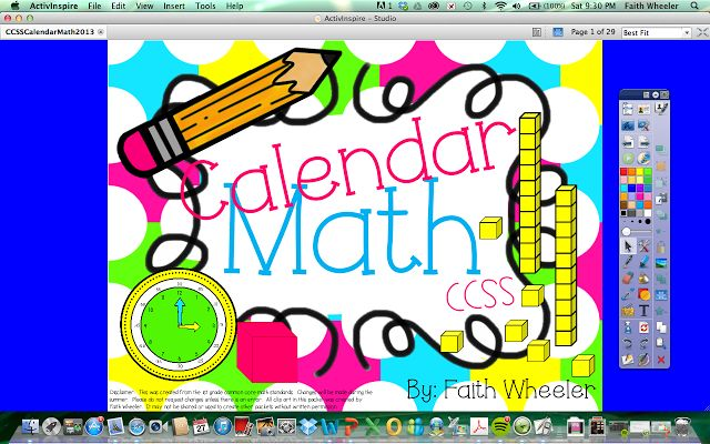 Calendar Math - Activboard File and Editable PowerPoint (Can be used with other interactive white boards).  Each slide is based on a first grade math standard.  All slides can be viewed here ($)